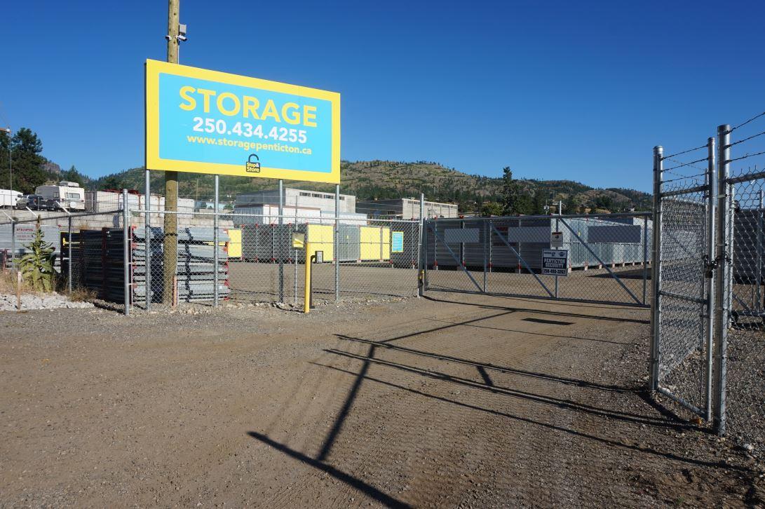 front gate, storage, penticton