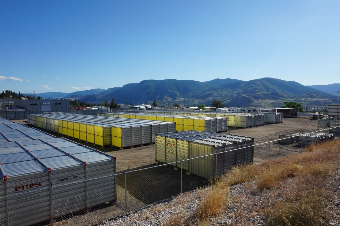 storage units, rows, penticton