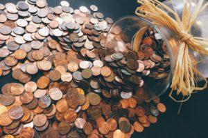 save money, pennies, jar
