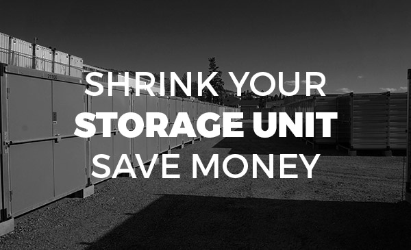 storage locker, downsize, save money