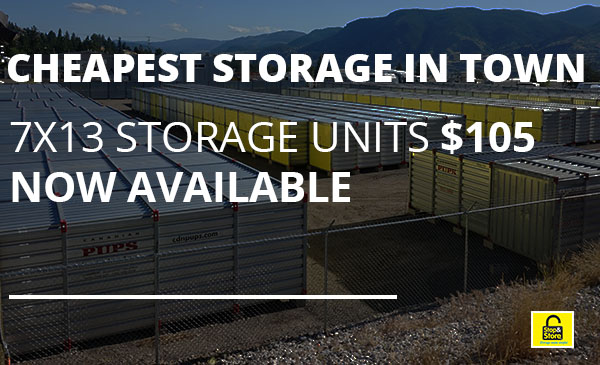 cheapest storage, penticton, units