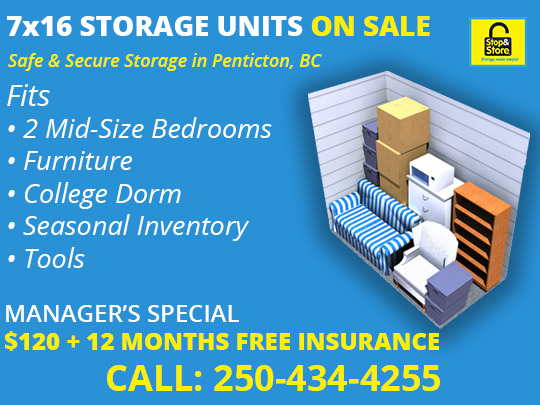 7x16, storage unit, promotion