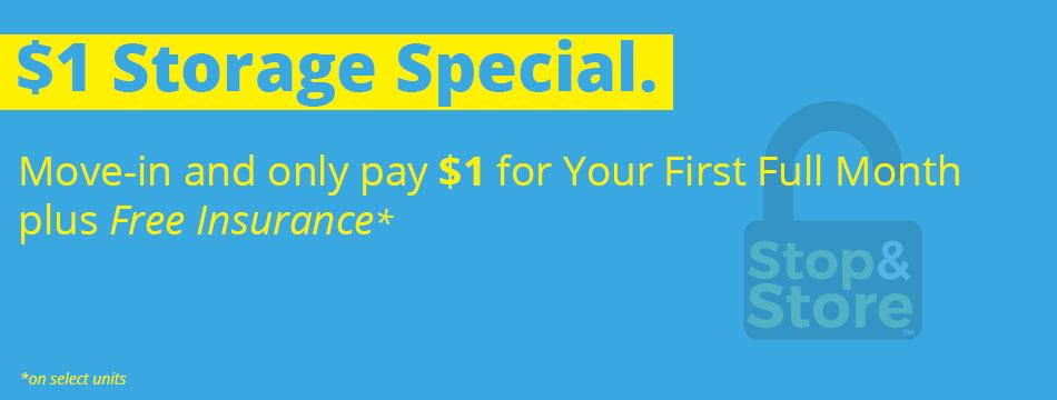 storage, deal, promotion, $1
