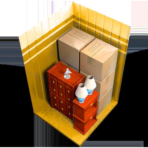 7x7 unit, storage unit, interior