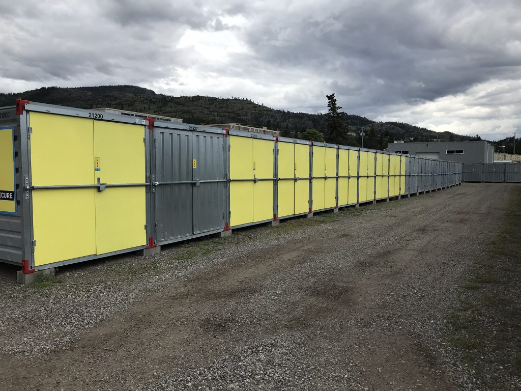 storage units, outside, penticton, doors