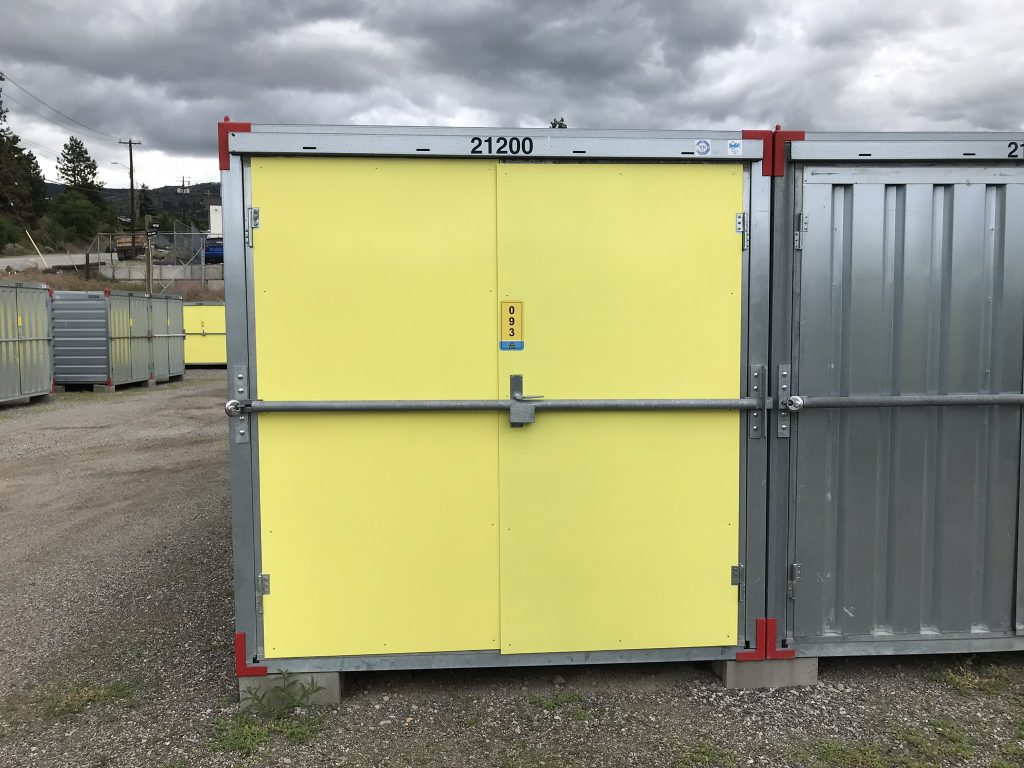 storage unit, door, outside