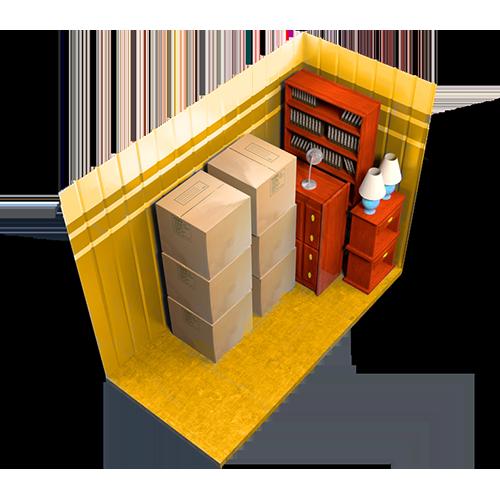 7x10, storage unit, interior
