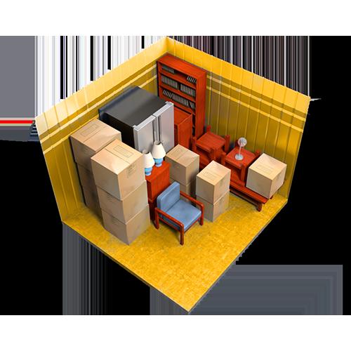 7x13, storage unit, interior