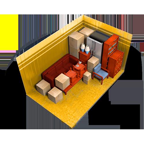 7x16, storage unit, interior