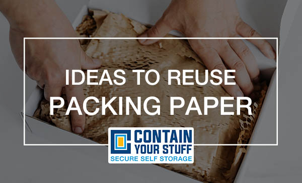 packing paper, reuse, crafts