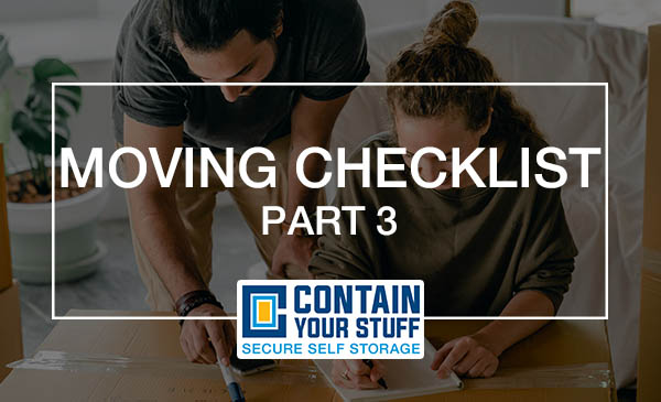 moving checklist, moving day