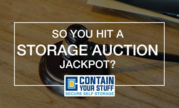 storage auction, bid